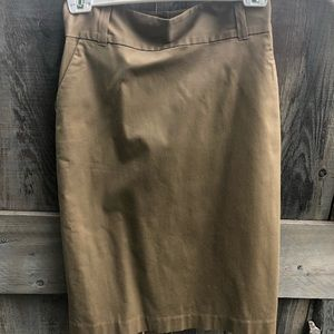 Beige banana republic skirt